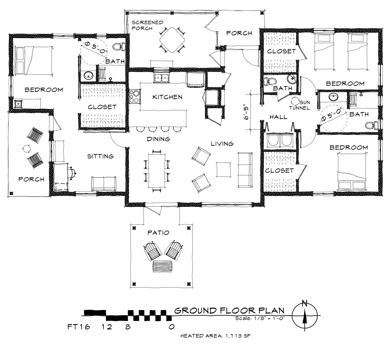 1 Story - Floor Plan