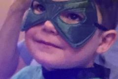 Masked boy at Hart's Mill