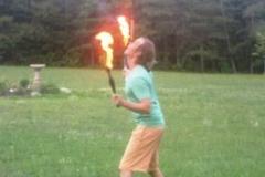 flaming juggler at Hart's Mill
