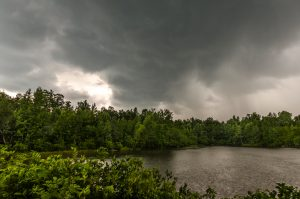 Storm over the pond
