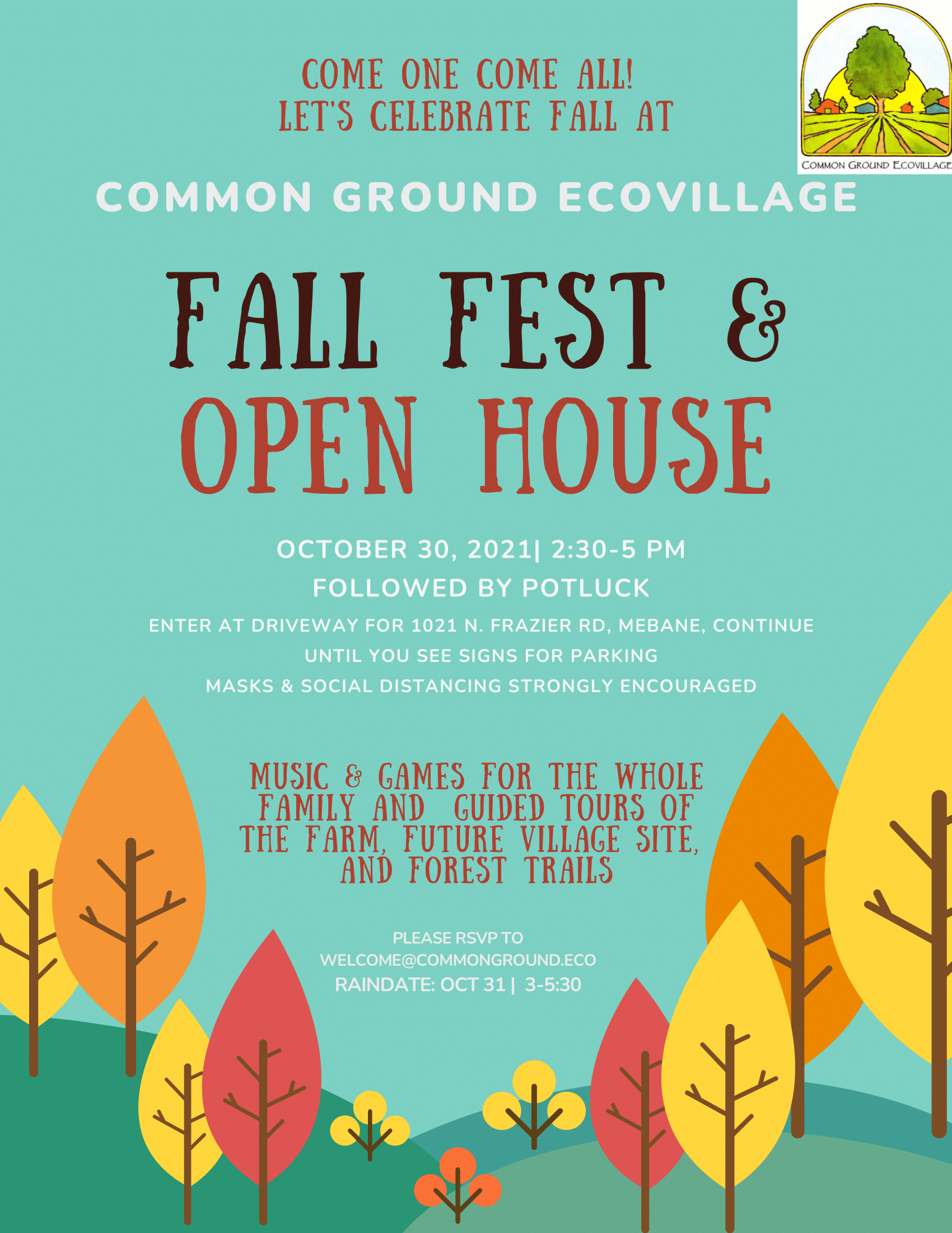 Fall Fest & Open House - October 30, 2021 | 2:30pm - 5:00pm